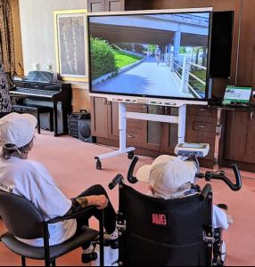 bike tour by screen
