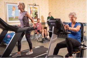 Residents exercising